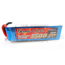 [입고완료][Gens ace] 5500mAh 22.2V 45C 6S1P Lipo Battery Long Pack 고급배터리 (No plug)